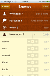 new expense iphone screenshot