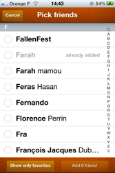 iphone contact integration screenshot